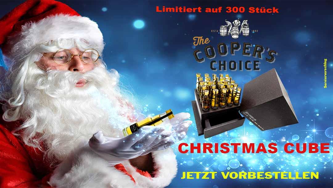 Compositing Werbung für Schwedors Christmas Cube mit Weihnachtsmann